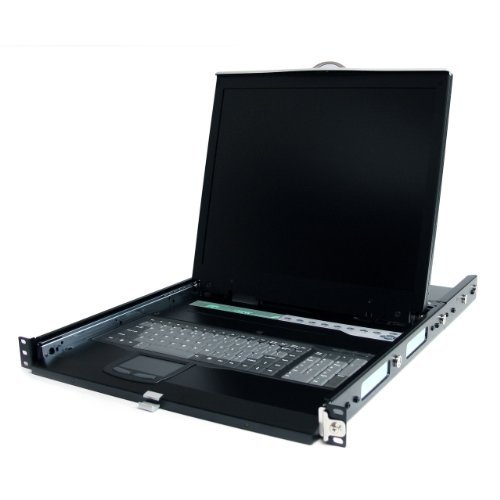 Startech.Com 1U 19 - Inch Rackmount Lcd Console With Rear Mount Kvm Switch Module (1Ucabcons19)
