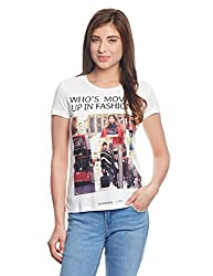 Madame Women's Body Blouse Top (M1551228_Off-White_Large)