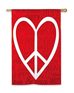 Regular Sized Flag Love Peace And Unity