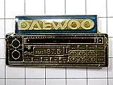 限定レア美品ピンズ◆ピズ・DAEWOOのFMラジオ大宇ピンバッジフラ