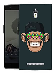 "Humor Gang Chimp Tripping Printed Designer Mobile Back Cover For ""Oppo Find 7"" (3D, Matte, Premium Quality Snap On Case)"