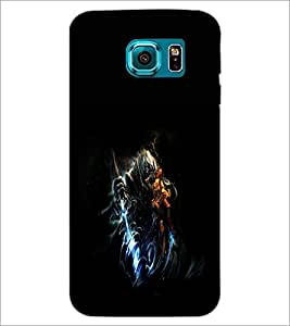 PrintDhaba Warrior D-1957 Back Case Cover for SAMSUNG GALAXY S6 (Multi-Coloured)