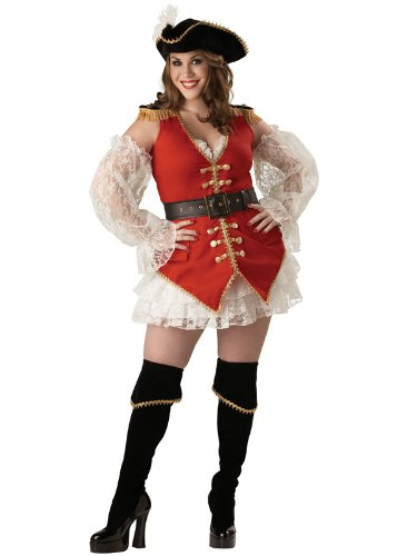 Sexy Plus Size Victorian Pirate Costume Deluxe Theatre Costumes 6 PC Set
