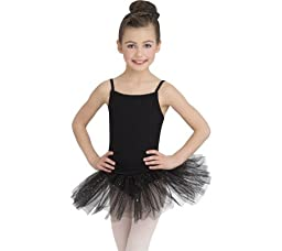 Capezio Dance Girls\' Camisole Tutu Dress,Black,US S