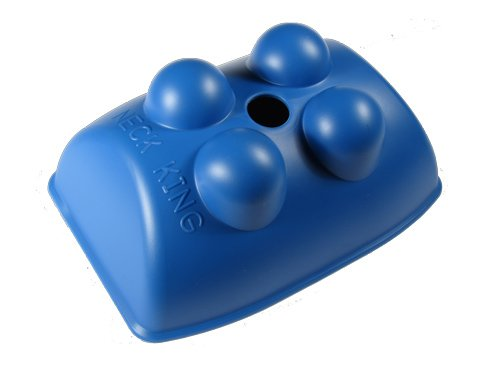 Neck King - Hands-Free Trigger Point Self Massage Tool For The Neck And Back (Blue)