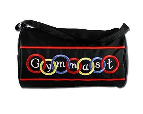 It's A Girl's Life Gymnastics Duffel Bag with Brilliant Embroidery (Gymnastics Embroidery Designs compare prices)