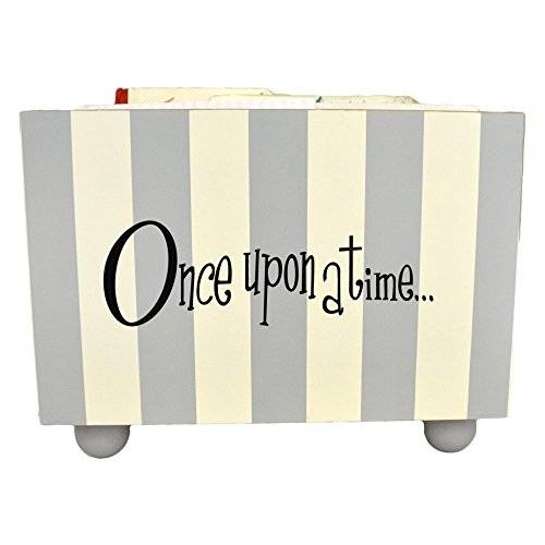 New Arrivals Stripe Book Holder, Gray/White
