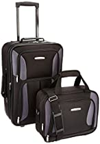 Rockland Luggage 2 Piece Set, Black/Gray, One Size