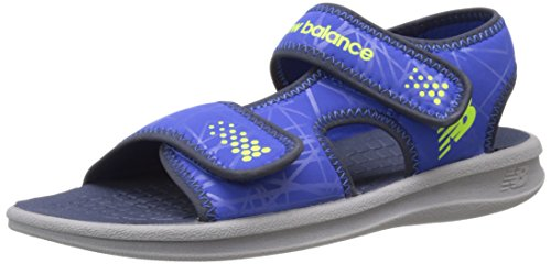 New Balance Sport 2 Strap Adjustable Sandal (Infant/Toddler/Little Kid/Big Kid), Grey/Blue, 9 M US Toddler