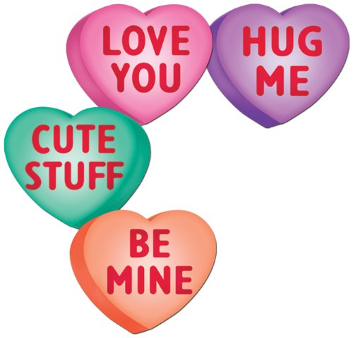 Pkgd Candy Heart Cutouts   (4/Pkg)