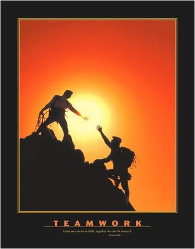 Motivational Teamwork Poster Unframed