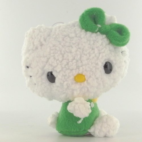 Hello-Kitty-Peluche-Basic-Fuwafuwa-Cot-Salopette-Verte-13-cm