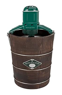 White Mountain Appalachian Series Wooden Bucket Electric Ice Cream Maker from Jarden Consumer Solutions