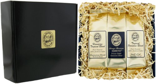 Gourmet Coffee Gift of Kona Hawaiian Blend Coffee,