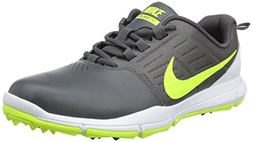 Nike Explorer Lea, Scarpe da Golf Uomo, Grigio (Dark Grey/Volt/White), 43 EU