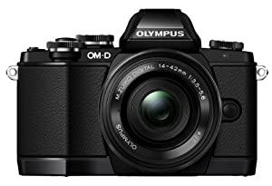 Olympus OM-D E-M10 Systemkamera (16 Megapixel, Live MOS Sensor, True Pic VII Prozessor, Fast-AF System, 3-Achsen VCM Bildstabilisator, Sucher, Full-HD, HDR) Kit inkl. 14-42mm Objektiv (elektr. Zoom) schwarz