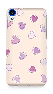 Amez designer printed 3d premium high quality back case cover for HTC Desire 820 (Cute Heart Pattern)