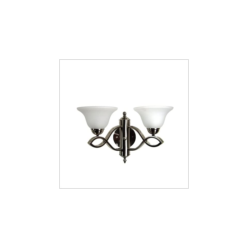 Sconce Yosemite Home Decor Vernal Falls Satin Nickel Wall Sconce with White Frost Glass Shade