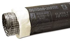 Dundas Jafine Bpc425r6 Insulated Flexible Duct With Black Jacket 4 Inches By 25 Feet Vents
