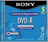 Sony 8cm DVD-R with Hangtab 5 Pack