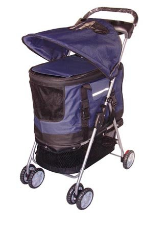 BestPet Ultimate 4 in 1 Pet Stroller, Navy Blue