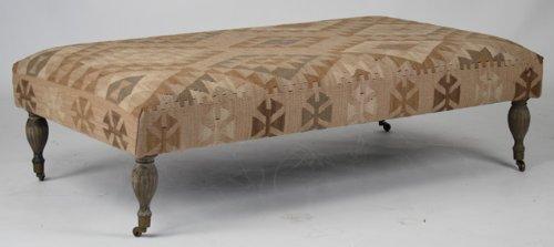 Buy Low Price Rae Plains Southwestern Rustic Kilim Square Coffee Table Ottoman B001ngilw4