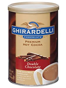 Ghirardelli Chocolate Premium Hot Cocoa Mix, Double Chocolate, 16-Ounce Tins (Pack of 4)