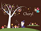 Girl Nursery Tree Wall Decal-Fairy Wall Stickers- Kids Removable Wall Decor