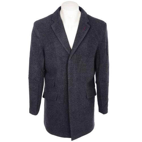 Thomas Brooks The Oxford Collection Men's Charcoal Wool/Cashmere Mix Single Breasted Coat in Size Medium