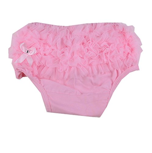 Masione Baby Girls Ruffle Panties Briefs Bloomer Diaper Cover 6-24M (M-Size:(6-24 Months), Pink) front-318516