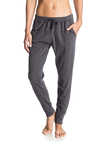 Roxy - Pantaloni da donna The Good Fight Joggers, Donna, Hose The Good Fight Joggers, Green Black - Solid, XS