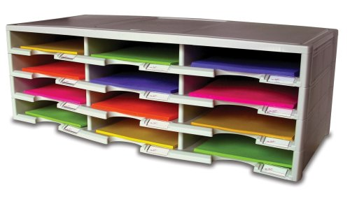Storex 12-Compartment Literature Organizer, Grey (61601U01C)