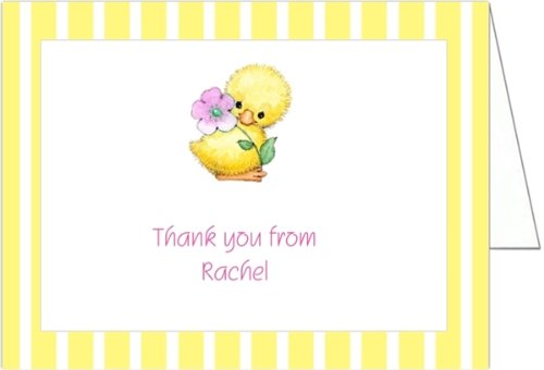 Yellow Ducky Baby Shower Thank You Cards - Set Of 20 front-990643