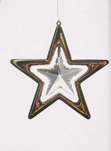 Stra Lux® Luce oggetti con Swarovski® Elements-Feng Shui-24kt oro-Stella 50mm