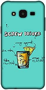 The Racoon Lean printed designer hard back mobile phone case cover for Samsung Galaxy J5. (Turquoise)