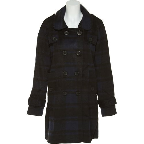 Jack By Bb Dakota Hunter Plaid Wool-Blend Coat (Navy/Black) [J30441], Sm