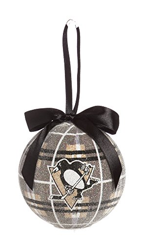100Mm Led Ball Ornament, Pittsburgh Penguins