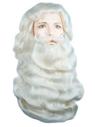 Costume Adventure Super Deluxe Santa Clause Wig and Beard Set