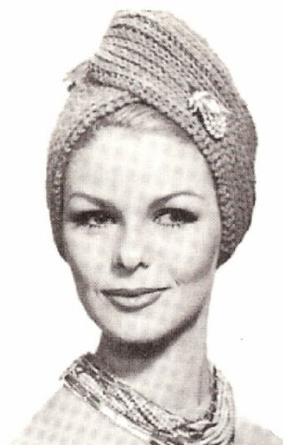 Vintage Knitting PATTERN to make - Turban Hat Head Wrap Scarf Cap. NOT a finished item, this is a pattern and/or instructions to make the item only.