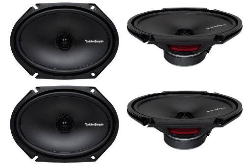 "4) New Rockford Fosgate R168X2 6X8"" 220W 2 Way Car Coaxial Speakers Audio Stereo"