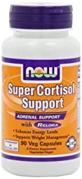 NOW Foods Super Cortisol Support, 90 Vcaps , Pack of 3