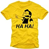 "coole-fun-t-shirts Herren t-shirt HA HA ! NELSON - THE SIMPSONS -gelb Gr.Mvon ""Coole-Fun-T-Shirts"""