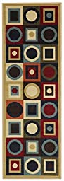 Anti-Bacterial Rubber Back RUGS RUNNERS Non-Skid/Slip 2x5 Runner Rug | Contemporary Geometric Indoor/Outdoor Thin Low Profile Modern Home Floor Bathroom Kitchen Hallways Colorful Decorative Rug