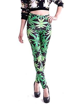 HDE Women's Funky Digital Print Design Graphic Stretch Footless Fashion Leggings