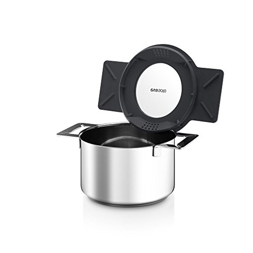 Eva Solo Gravity Cookware - Stainless Steel 2.0 L Cooking Pot with Grey Multifunctional Lid