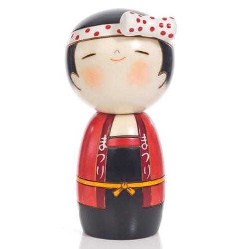 Lucky Girl legno, motivo Kokeshi Doll