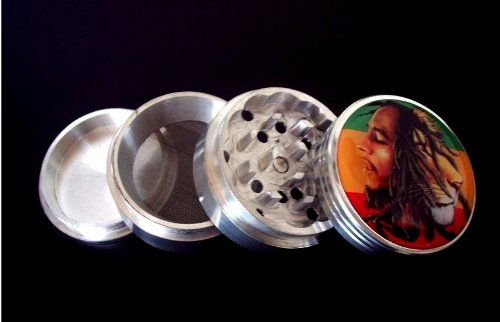 "Bob Marley 4 Piece Grinder ""Heart of a Lion"" Herb Spice Tobacco"