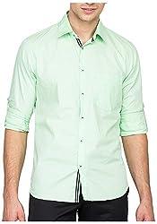 Bolt Men's Casual Shirt (bolt040, Gren, M)