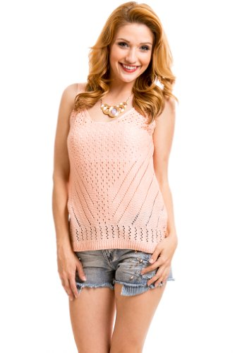 Knit Camisole in Pink