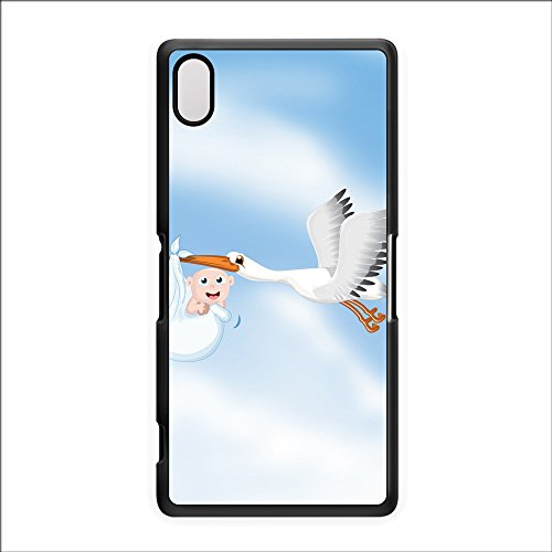 Stalk Carrying New Born Baby Black Hard Plastic Case Snap-On Protective Back Cover For Sony® Xperia Z2 By Nick Greenaway + Free Crystal Clear Screen Protector